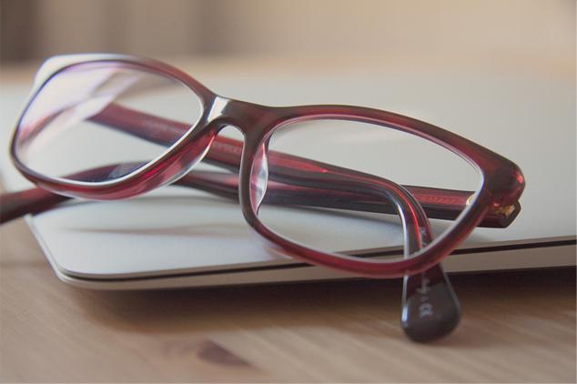 Gafas y portatil