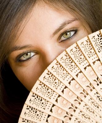 Chica ojos verdes